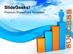 Bar Graph With Person Success PowerPoint Templates And PowerPoint Themes 0512