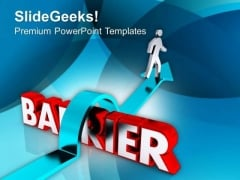 Barrier To Be Crossed To Achieve Goal PowerPoint Templates Ppt Backgrounds For Slides 0413