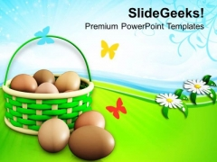 Basket The Appearance Of Birds Nest Festival PowerPoint Templates Ppt Backgrounds For Slides 0313