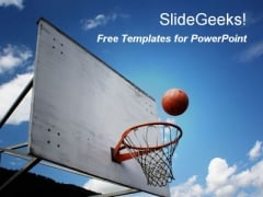 Basketball Game PowerPoint Template
