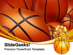 Basketball Background Sports PowerPoint Templates And PowerPoint Themes 0812