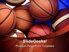 Basketball Sports PowerPoint Backgrounds And Templates 1210