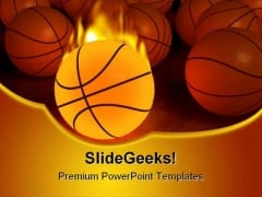 Basketball Sports PowerPoint Themes And PowerPoint Slides 0411