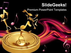 Bass Notes Music PowerPoint Themes And PowerPoint Slides 0511