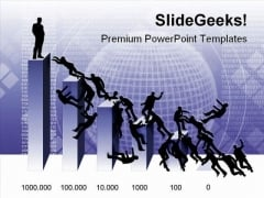 Battle Of The Top People PowerPoint Background And Template 1210