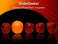 Be Different Business PowerPoint Template 0510