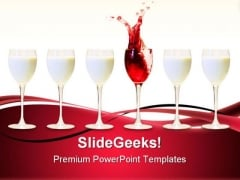 Be Different Drinks Food PowerPoint Templates And PowerPoint Backgrounds 0711