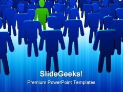 Be Different Leadership PowerPoint Templates And PowerPoint Backgrounds 0511