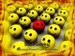 Be Different Symbol PowerPoint Template 0810