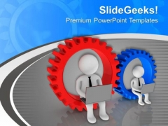 Be Geared With Latest Technology PowerPoint Templates Ppt Backgrounds For Slides 0713