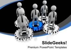Be In The Center For Leadership PowerPoint Templates Ppt Backgrounds For Slides 0613