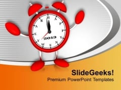 Be Punctual For Better Growth PowerPoint Templates Ppt Backgrounds For Slides 0413