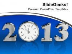 Be Punctual This New Year PowerPoint Templates Ppt Backgrounds For Slides 0413