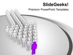 Be The First One To Become Leader PowerPoint Templates Ppt Backgrounds For Slides 0613