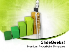 Be The First To Climb The Ladder PowerPoint Templates Ppt Backgrounds For Slides 0813
