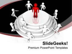 Be The Leader Of Community PowerPoint Templates Ppt Backgrounds For Slides 0613