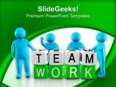 Be The Part Of Office Team PowerPoint Templates Ppt Backgrounds For Slides 0613