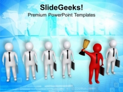 Be The Winner In Team PowerPoint Templates Ppt Backgrounds For Slides 0713