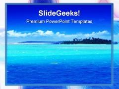 Beach Beauty PowerPoint Template 0910