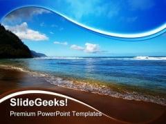 Beach Beauty PowerPoint Template 1110
