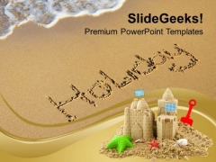 Beach Holidays Concept PowerPoint Templates Ppt Backgrounds For Slides 0213