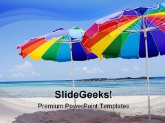 Beach Umbrellas Holidays PowerPoint Themes And PowerPoint Slides 0511