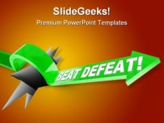 Beat Defeat Arrow Success PowerPoint Themes And PowerPoint Slides 0811