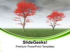 Beautiful Autumn Theme With White Background PowerPoint Templates Ppt Backgrounds For Slides 0413