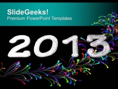Beautiful Background Theme For New Year 2013 PowerPoint Templates Ppt Backgrounds For Slides 0613