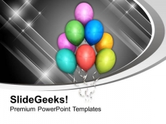 Beautiful Balloons For Party Theme PowerPoint Templates Ppt Backgrounds For Slides 0613