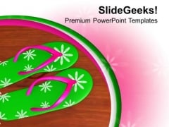 Beautiful Colorful Flip Flops PowerPoint Templates Ppt Backgrounds For Slides 0713