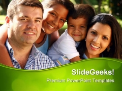 Beautiful Family Enjoying Holidays PowerPoint Templates And PowerPoint Backgrounds 0511