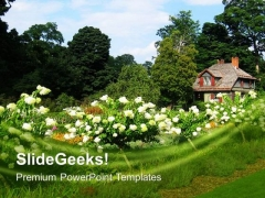 Beautiful Garden Background PowerPoint Templates Ppt Backgrounds For Slides 0613