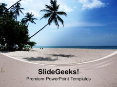 Beautiful Lonely Beach PowerPoint Templates Ppt Backgrounds For Slides 0513