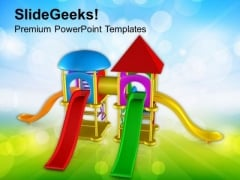 Beautiful Play And Slide Area For Kids PowerPoint Templates Ppt Backgrounds For Slides 0713