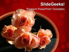 Beautiful Roses Beauty PowerPoint Template 1110