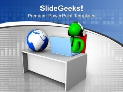 Become A Global Boss PowerPoint Templates Ppt Backgrounds For Slides 0713