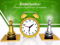 Become A King With Punctualty PowerPoint Templates Ppt Backgrounds For Slides 0413