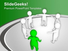 Become A Leader And Join Team PowerPoint Templates Ppt Backgrounds For Slides 0613