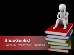 Become A Thinker And Get Knowledge PowerPoint Templates Ppt Backgrounds For Slides 0613