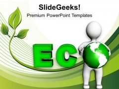 Become Eco Friendly For Safe Future PowerPoint Templates Ppt Backgrounds For Slides 0513