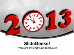 Beginning New Year 2013 Concept PowerPoint Templates Ppt Backgrounds For Slides 0113
