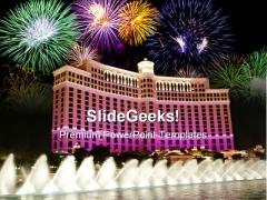 Bellagio Las Vegas Beauty PowerPoint Template 1010