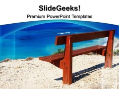 Bench Near Sea Nature PowerPoint Templates And PowerPoint Themes 0512