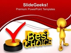 Best Choice Concept Award Finance PowerPoint Templates And PowerPoint Themes 0812