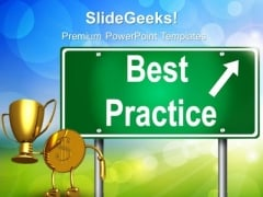 Best Practice Signpost Success PowerPoint Templates And PowerPoint Themes 0312