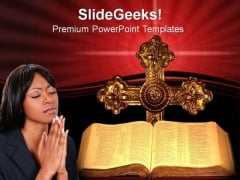 Bible And Cross Church PowerPoint Templates And PowerPoint Themes 0812