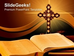 Bible Cross Church PowerPoint Templates And PowerPoint Themes 0712