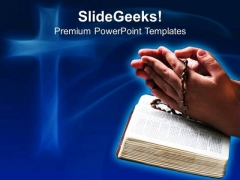 Bible Prayers Church PowerPoint Templates And PowerPoint Themes 0712