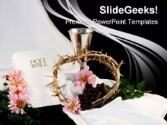 Bible Religion PowerPoint Template 1010